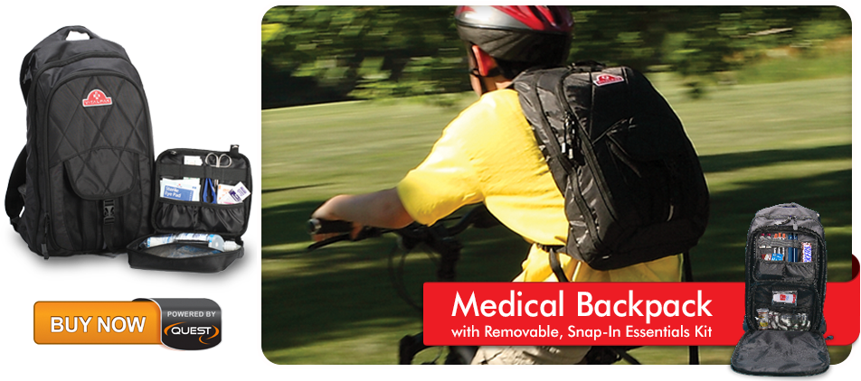 VitalPak Medical Backpack with Removable, Snap In Essentials Kit